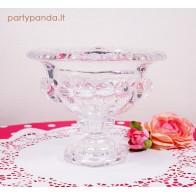 Prabangi stiklinė vaza-saldaininė