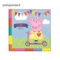 """Vienkartinės popierinės servetėlės """"Peppa Pig"""" (16 vnt./33x33 cm)"""