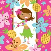 """Vienkartinės popierinės servetėlės """"Tropikų mergaitė"""" (16 vnt.)"""