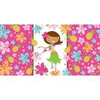 "Staltiesė ""Tropikų mergaitė"" (137x274 cm)"