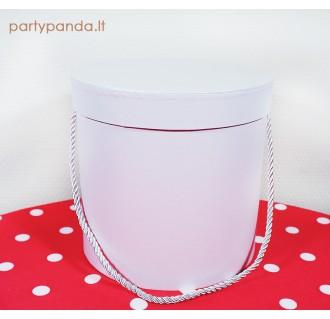 Cilindro formos dovanų dėžutė balta, didelė