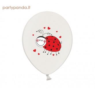 """Baltas balionas """"Boružėlė"""", 30 cm"""