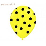 Geltonas balionas su juodais taškeliais, 30 cm