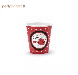 """Popieriniai puodeliai """"Boružėlė"""" (6 vnt./200 ml)"""