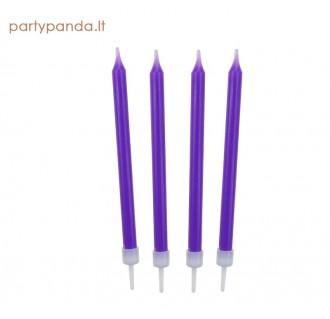 Purple cake candle, 10 pcs