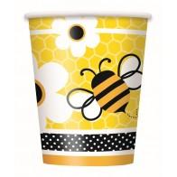 """Popieriniai puodeliai """"Bitutė""""(8 vnt./266 ml)"""