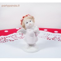 Baby pink angel statue, small