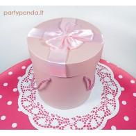 Cilindro formos dovanų-gėlių dėžutė rožinė, didelė