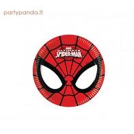 """Popierinės lėkštutės """"Žmogus voras / Spiderman"""" (8 vnt./19,5 cm)"""