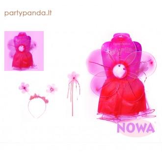"""Karnavalinis kostiumas mergaitei """"Rožinė gėlė"""""""