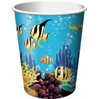 """Popieriniai puodeliai """"Vandenyno paslaptys"""" (8 vnt./266 ml)"""