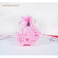 """Krikštynų dovana """"Vežimėlis, rožinis"""
