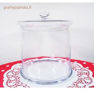 Didelis apvalus stiklinis indas