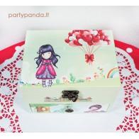 Muzikinė dėžutė papuošalams su mergaite