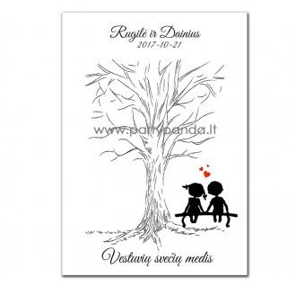 """Krikštynų svečių medis """"Love is"""""""