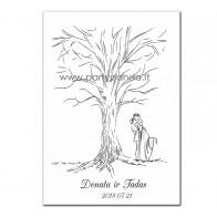 """Vestuvių svečių medis """"Jaunieji"""""""