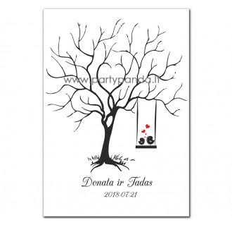 """Vestuvių svečių medis """"Paukšteliai"""""""