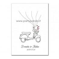 """Svečių knyga-pirštų antspaudai """"Motociklas"""""""