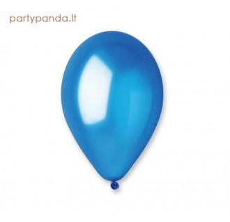 Mėlynas metalizuotas balionas, 30 cm