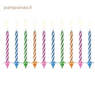Neužpučiamos gimtadienio žvakutės, 10 vnt.