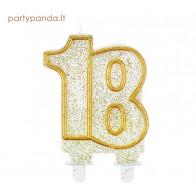 Jubiliejinė žvakutė skaičius 18
