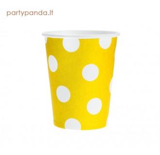 Popieriniai puodeliai, geltoni, su burbuliukais (6 vnt./270ml)