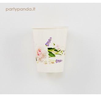 Popieriniai puodeliai su bijūnais (8 vnt./250ml)