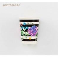 Popieriniai puodeliai su hortenzijomis (8 vnt./250ml)