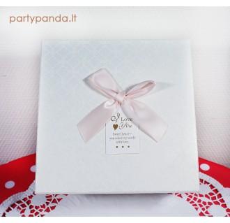Stačiakampė dovanų, gėlių dėžutė, baltos spalvos, vidutinė