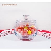 Apvalus stiklinis indas saldainiams