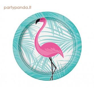 """Popierinės lėkštutės """"Rožinis flamingas"""", (8 vnt./17 cm)"""