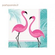"""Vienkartinės popierinės servetėlės """"Rožinis flamingas"""" (16 vnt.)"""