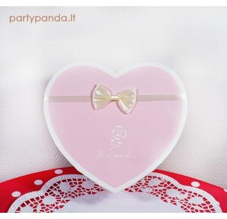 Dovanų/gėlių dėžutė širdelė, rožinė, didelė