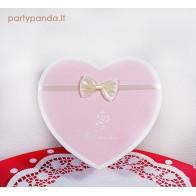 Dovanų/gėlių dėžutė širdelė, rožinė, vidutinė