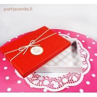 Stačiakampė dovanų dėžutė, raudonos spalvos, maža