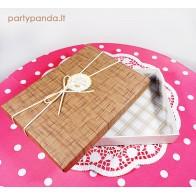 Stačiakampė dovanų dėžutė, rudos spalvos, maža