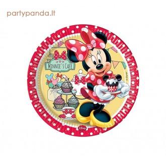 """Vienkartinės popierinės lėkštutės """"Minnie mouse"""" (8 vnt./23 cm)"""