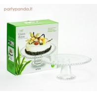 Stiklinė tortinė su burbuliukais