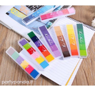 Rašalo pagalvėlė pirštų antspaudams svečių medžiui, įvairių spalvų