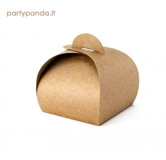 Rustic stiliaus dovanų dėžutė svečiams, 10 vnt.