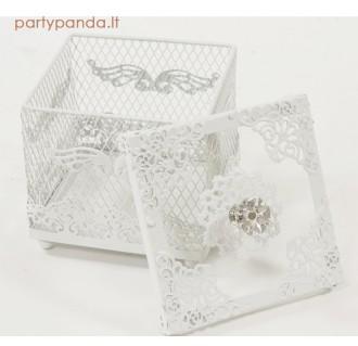 Provanso stiliaus metalinė dėžutė-saldaininė