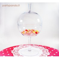 Burbulo formos stiklinis indas ant kojelės