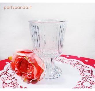 Elegantiška stiklinė vaza