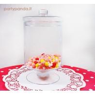 Pailgas stiklinis indas su dangteliu saldainiams