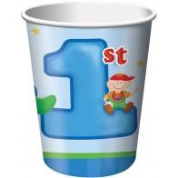 """Popieriniai puodeliai """"Mažasis vairuotojas"""" (8 vnt./266 ml)"""