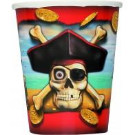 """Popieriniai puodeliai """"Piratai"""" (8 vnt./266 ml)"""
