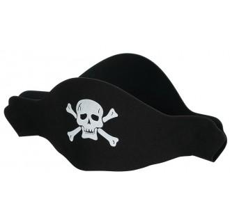 Minkšto plastiko pirato kepurė
