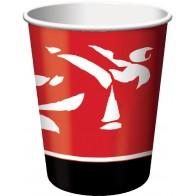 """Popieriniai puodeliai """"Juodasis diržas"""" (8 vnt./266 ml)"""