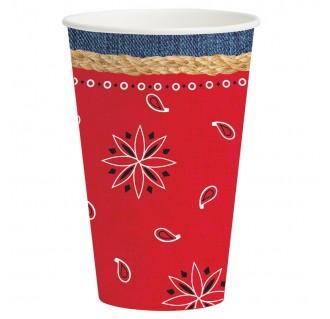 """Popieriniai puodeliai """"Vesternas"""" (8 vnt./355 ml)"""