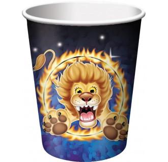 """Popieriniai puodeliai """"Cirkas"""" (8 vnt./266 ml)"""